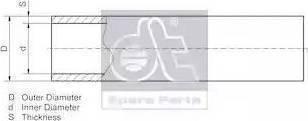 DT Spare Parts 9.86008 - Трубопровід autozip.com.ua