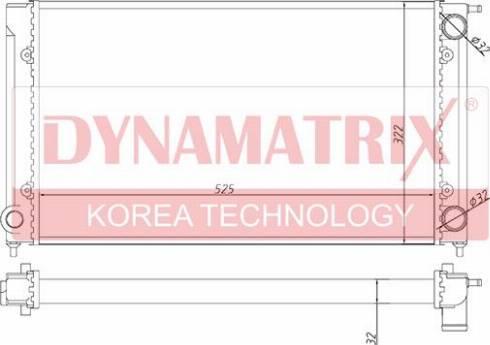 Dynamatrix DR651511 - Радіатор, охолодження двигуна autozip.com.ua