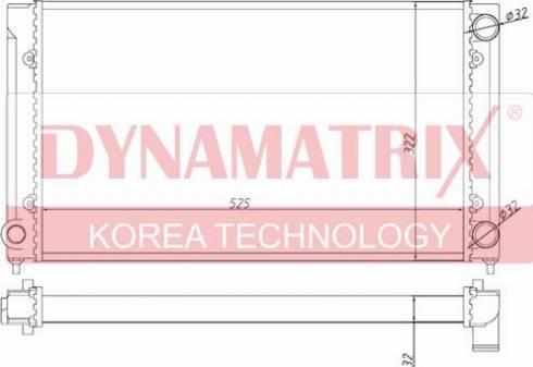 Dynamatrix DR651741 - Радіатор, охолодження двигуна autozip.com.ua