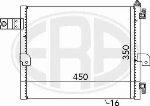 ERA 667088 - Конденсатор, кондиціонер autozip.com.ua