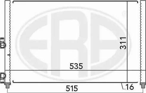 ERA 667024 - Конденсатор, кондиціонер autozip.com.ua