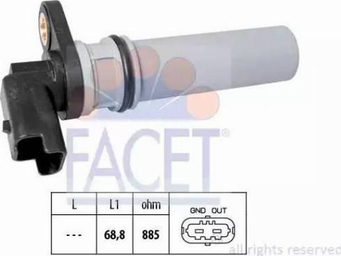 FACET 9.0537 - Датчик частоти обертання, автоматична коробка передач autozip.com.ua