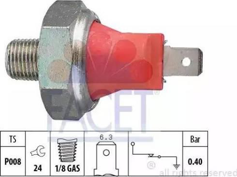 FACET 7.0017 - Датчик тиску масла autozip.com.ua