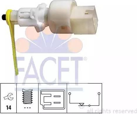 FACET 7.1153 - Вимикач, привід зчеплення (Tempomat) autozip.com.ua