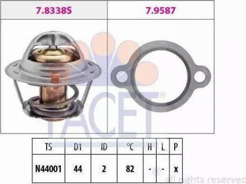 DKarta 17670A80D00-000 - Термостат, охолоджуюча рідина autozip.com.ua