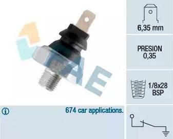 FAE 11610 - Датчик тиску масла autozip.com.ua