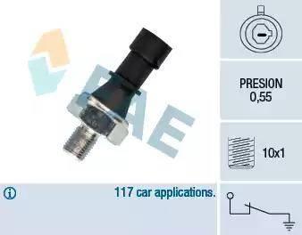 FAE 12436 - Датчик тиску масла autozip.com.ua