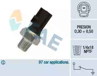 FAE 12610 - Датчик тиску масла autozip.com.ua