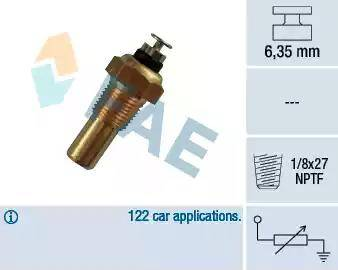 FAE 32070 - Датчик, температура охолоджуючої рідини autozip.com.ua