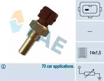 FAE 32270 - Датчик, температура охолоджуючої рідини autozip.com.ua