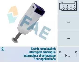 FAE 24792 - Вимикач, привід зчеплення (Tempomat) autozip.com.ua