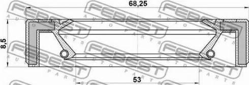 Febest 95GAY-55680808L - Ущільнене кільце, роздавальна коробка autozip.com.ua