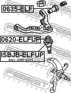 Febest 0635-ELF - Кріплення попоречного важеля autozip.com.ua