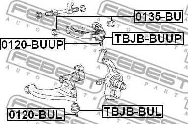 Febest 0135-BU - Кріплення попоречного важеля autozip.com.ua