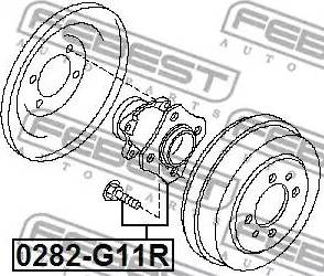 Febest 0282-G11R - Маточина колеса autozip.com.ua