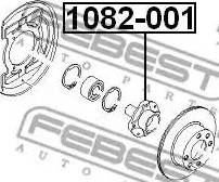 Febest 1082-001 - Маточина колеса autozip.com.ua