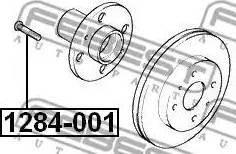 Febest 1284001 - Болт кріплення колеса autozip.com.ua