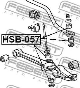 Febest HSB-057 - Підвіска, стійка валу autozip.com.ua