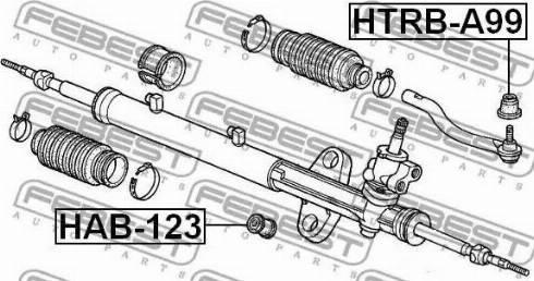 Febest HTRBA99 - Ремкомплект, наконечник поперечної рульової тяги autozip.com.ua