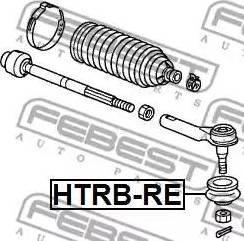 Febest HTRBRE - Ремкомплект, наконечник поперечної рульової тяги autozip.com.ua