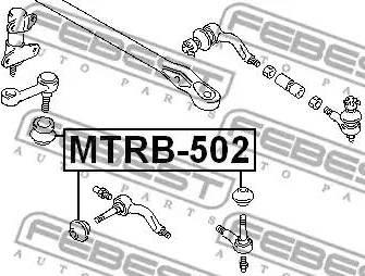 Febest MTRB502 - Ремкомплект, наконечник поперечної рульової тяги autozip.com.ua
