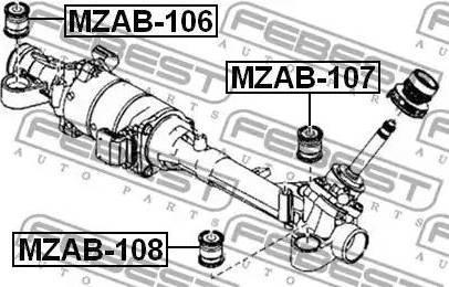 Febest MZAB-107 - Підвіска, кермове управління autozip.com.ua