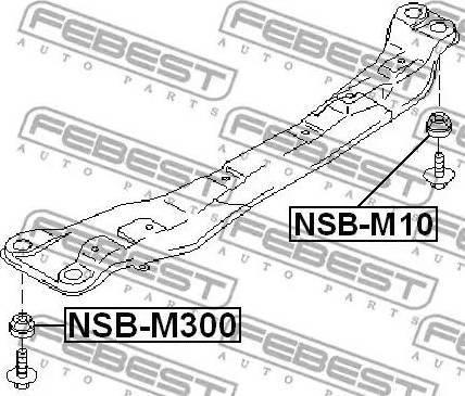 Febest NSB-M300 - Втулка, балка мосту autozip.com.ua