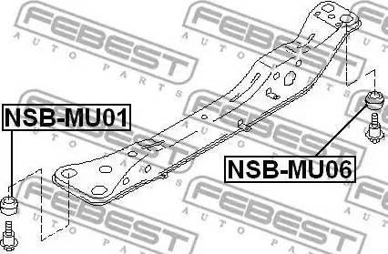 Febest NSB-MU06 - Втулка, балка мосту autozip.com.ua