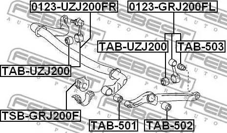 Febest TAB503 - Підвіска, стійка валу autozip.com.ua