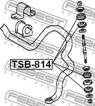 Febest TSB-814 - Підвіска, стійка валу autozip.com.ua