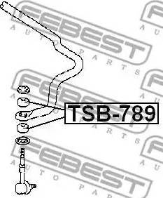 Febest TSB-789 - Підвіска, стійка валу autozip.com.ua