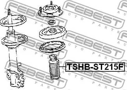 Febest TSHB-ST215F - Пильник амортизатора, захисний ковпак autozip.com.ua