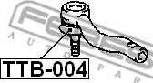 Febest TTB004 - Ремкомплект, наконечник поперечної рульової тяги autozip.com.ua