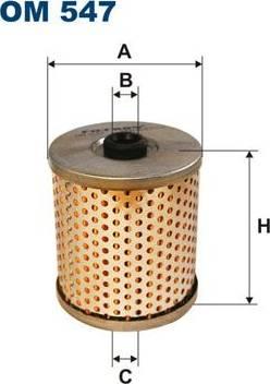 Filtron OM547 - Фільтр, Гідравлічна система приводу робочого устаткування autozip.com.ua