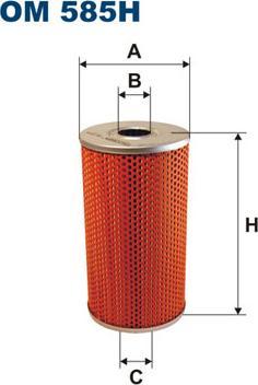 Filtron OM585H - Фільтр, Гідравлічна система приводу робочого устаткування autozip.com.ua