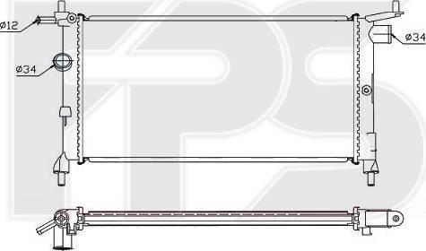 FPS FP 52 A266 - Радіатор, охолодження двигуна autozip.com.ua