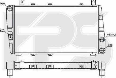 FPS FP 64 A622 - Радіатор, охолодження двигуна autozip.com.ua