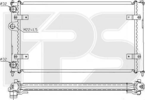 FPS FP 62 A498 - Радіатор, охолодження двигуна autozip.com.ua