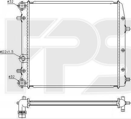FPS FP 74 A440 - Радіатор, охолодження двигуна autozip.com.ua