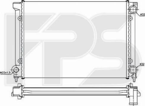 FPS FP 74 A438 - Радіатор, охолодження двигуна autozip.com.ua