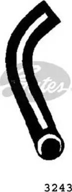 Gates 3243 - Шланг радіатора autozip.com.ua
