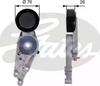 Gates T38151 - Натяжна ролик, поліклинові ремінь autozip.com.ua