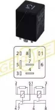 Gebe 9 9386 1 - Реле, кондиціонер autozip.com.ua