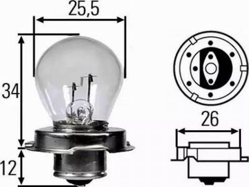 HELLA 8GA008899121 - Лампа розжарювання, фара дальнього світла autozip.com.ua