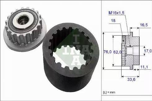 INA 535 0186 10 - Комплект еластичної муфти зчеплення autozip.com.ua