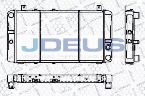 Jdeus RA0380000 - Радіатор, охолодження двигуна autozip.com.ua