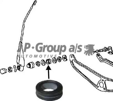 JP Group 8198151402 - Пильник, тяги і важелі приводу склоочисника autozip.com.ua