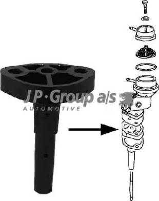 JP Group 8115250200 - Фланець, блок подачі палива autozip.com.ua