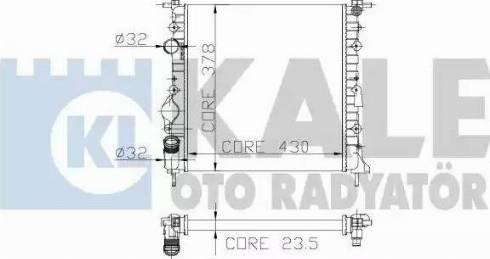 KALE OTO RADYATÖR 159400 - Радіатор, охолодження двигуна autozip.com.ua