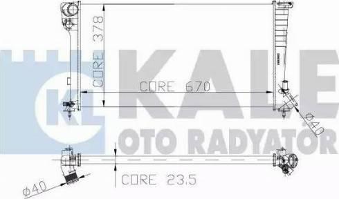 KALE OTO RADYATÖR 160900 - Радіатор, охолодження двигуна autozip.com.ua